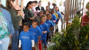 Meninas participam do lançamento Campanha. Foto: Divulgação