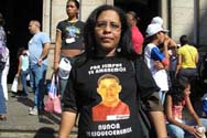 Luciene Silva, mãe de Raphael, vítima da Chacina da Baixada. Foto: Carolina Laureano - G1