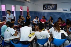 Grupo de discussão de um dos seis eixos temáticos dos Direitos Humanos. Foto: Victor Domingues